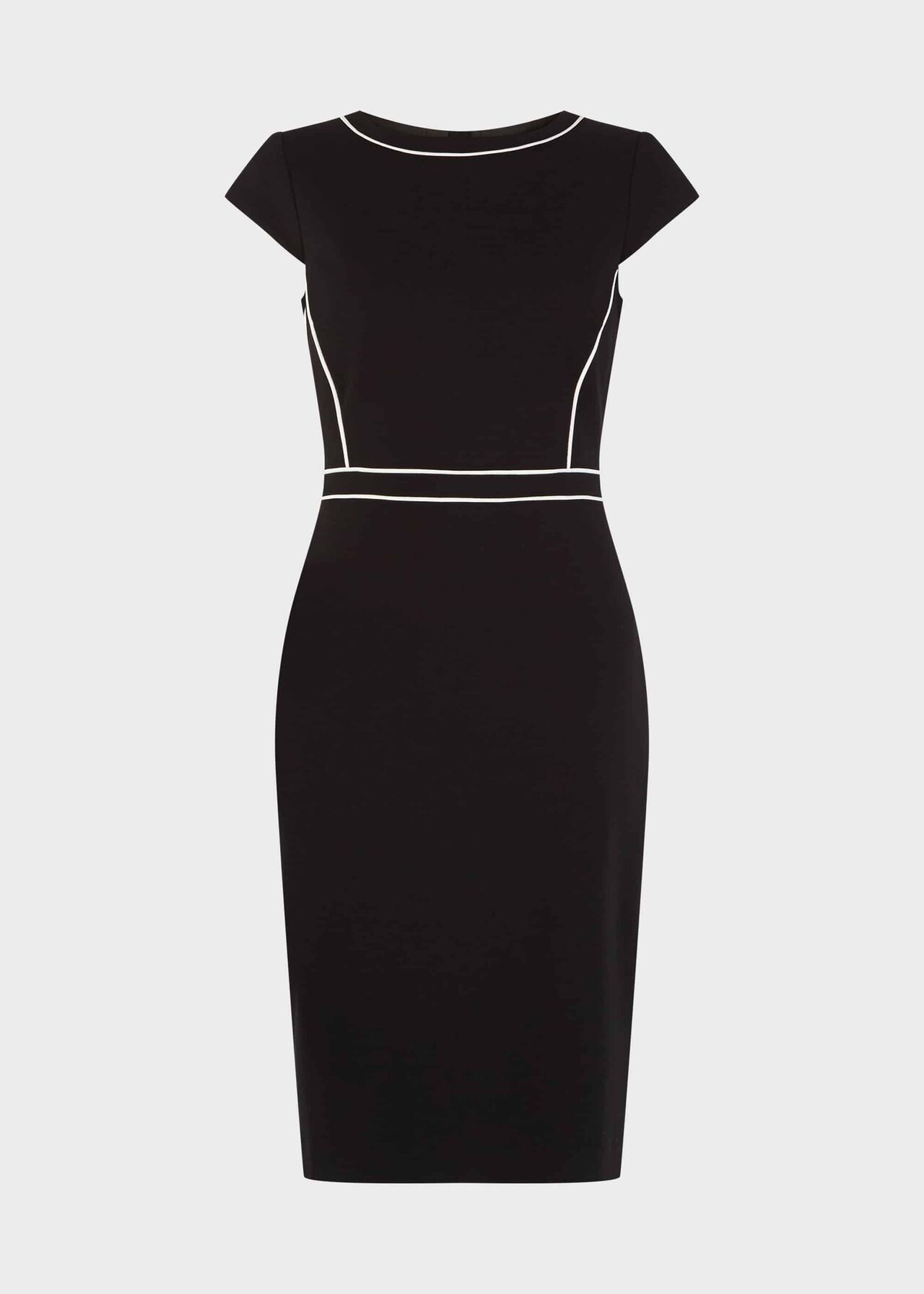 Petite Cordelia Dress Black Ivory
