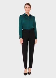 Renee Collar Shirt, Leaf Green, hi-res