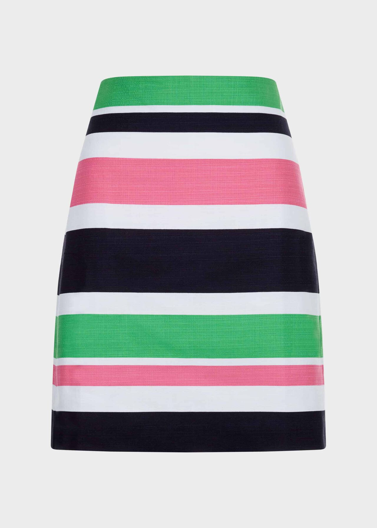 Alya Cotton Blend Stripe A Line Skirt Multi