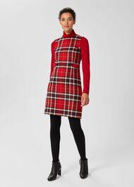 Sariah Aline Wool Dress, Red Multi, hi-res