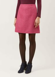 Elea Wool Skirt, Pink, hi-res