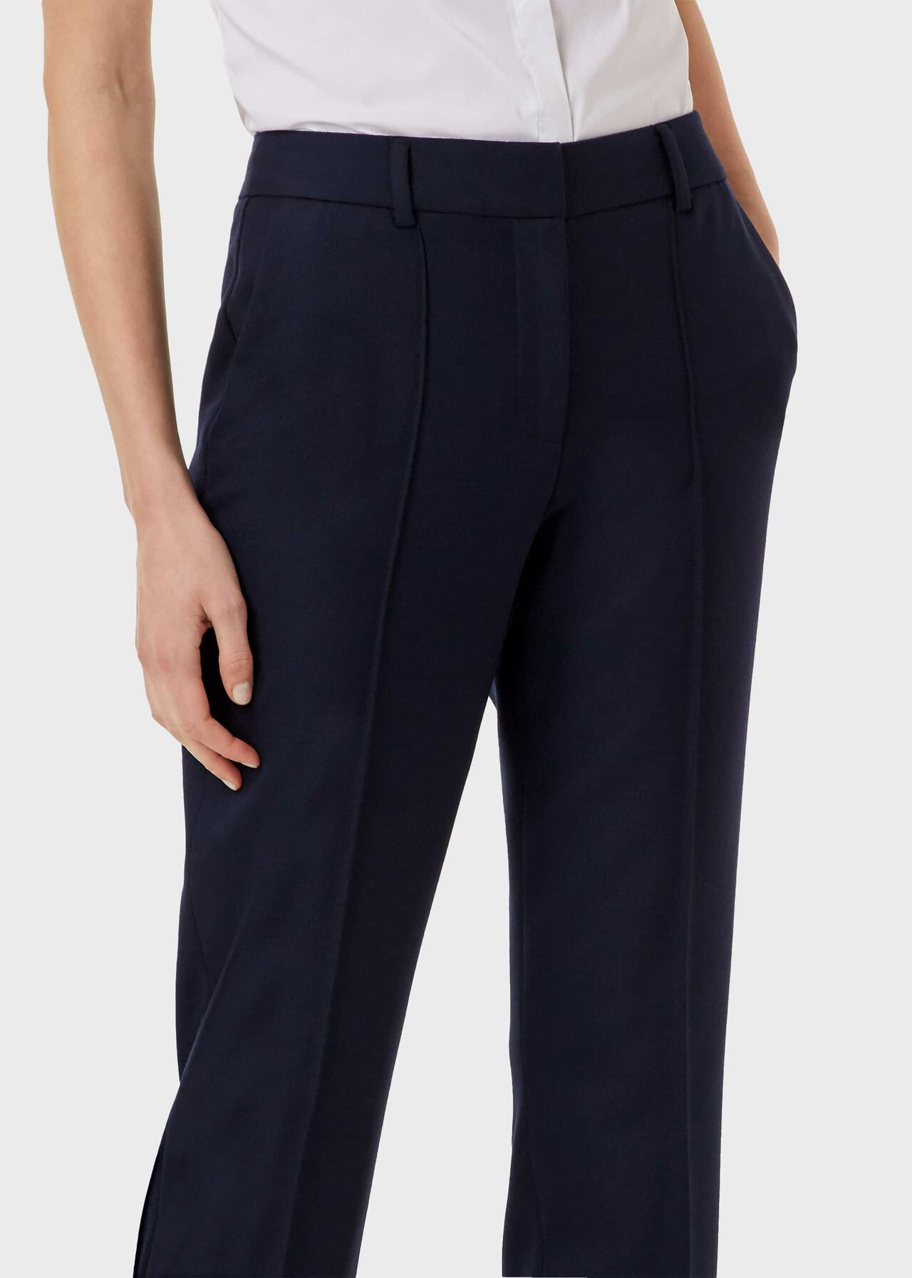 Martina Straight trousers, Navy, hi-res