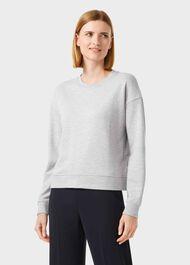 Meg Cotton Blend Sweatshirt, Grey Marl, hi-res