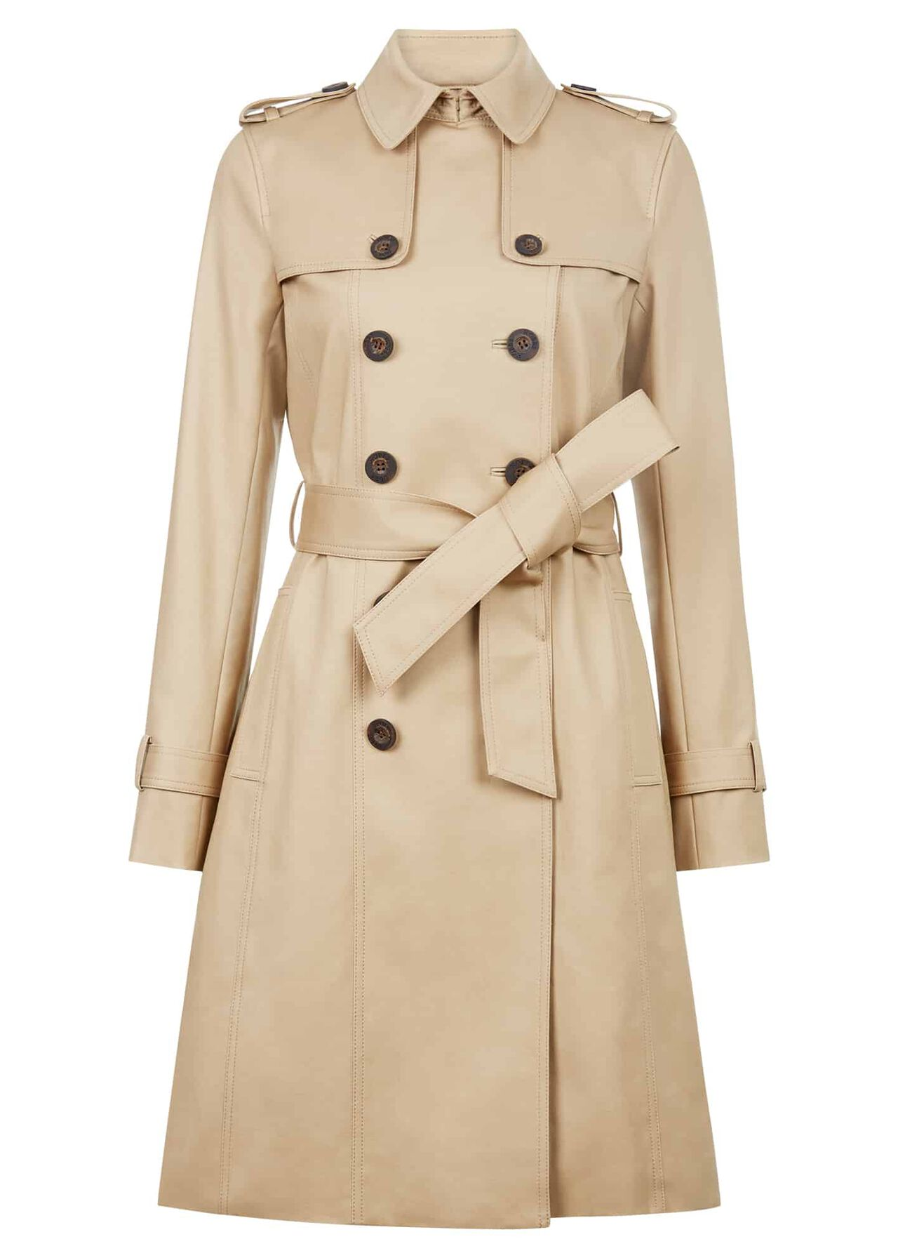 Saskia Water Resistant Trench Coat Mocha