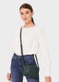 Pelham Leather Cross Body Bag, Bottle Green, hi-res