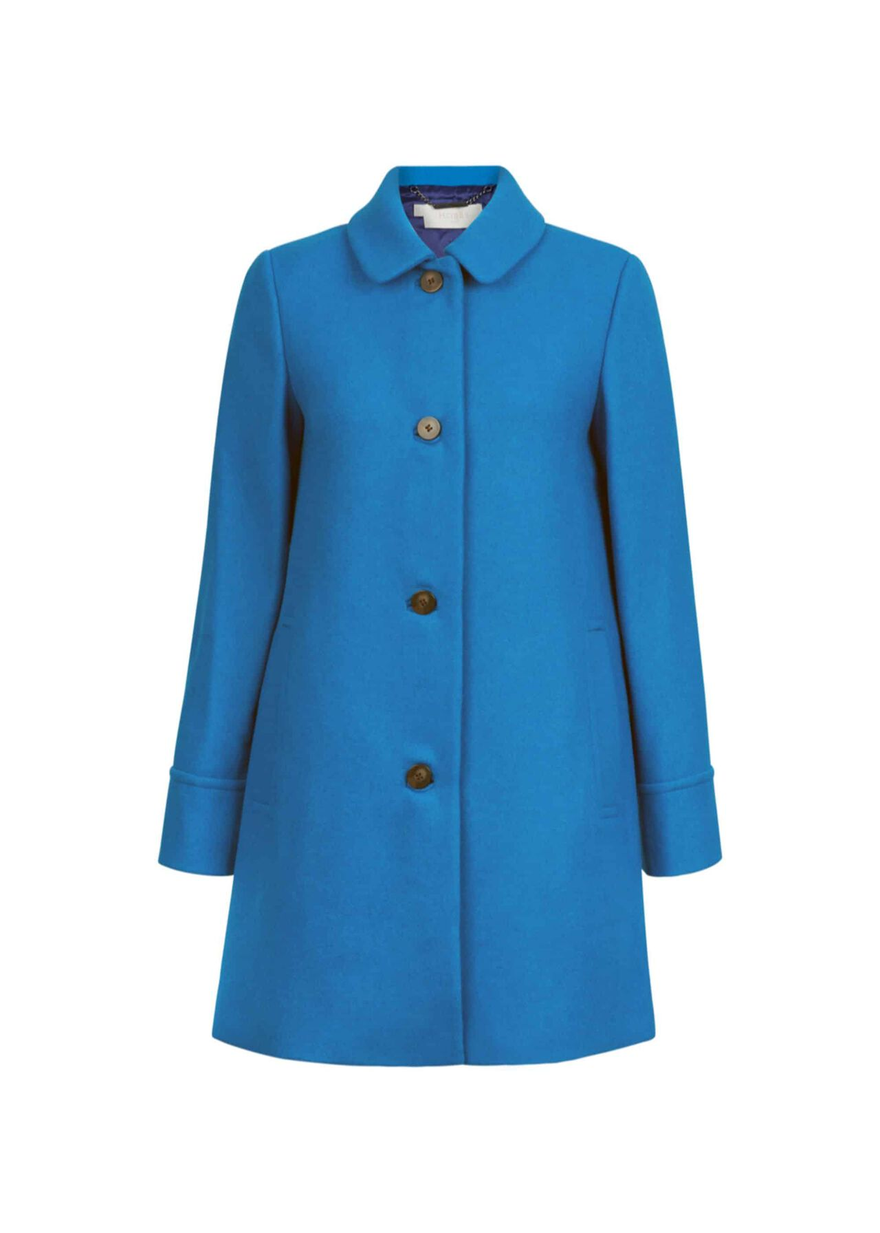 Fia Wool Blend Coat Agean Blue