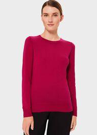 Penny Merino Wool Sweater, Hot Pink, hi-res