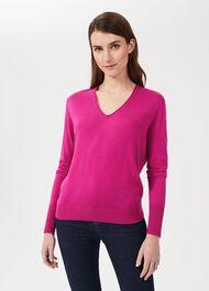 Kim Sweater With Silk, Magenta, hi-res