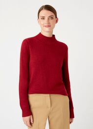 Freda Merino Wool Blend Sweater, Berry, hi-res