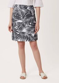 Loretta Skirt, Navy White, hi-res