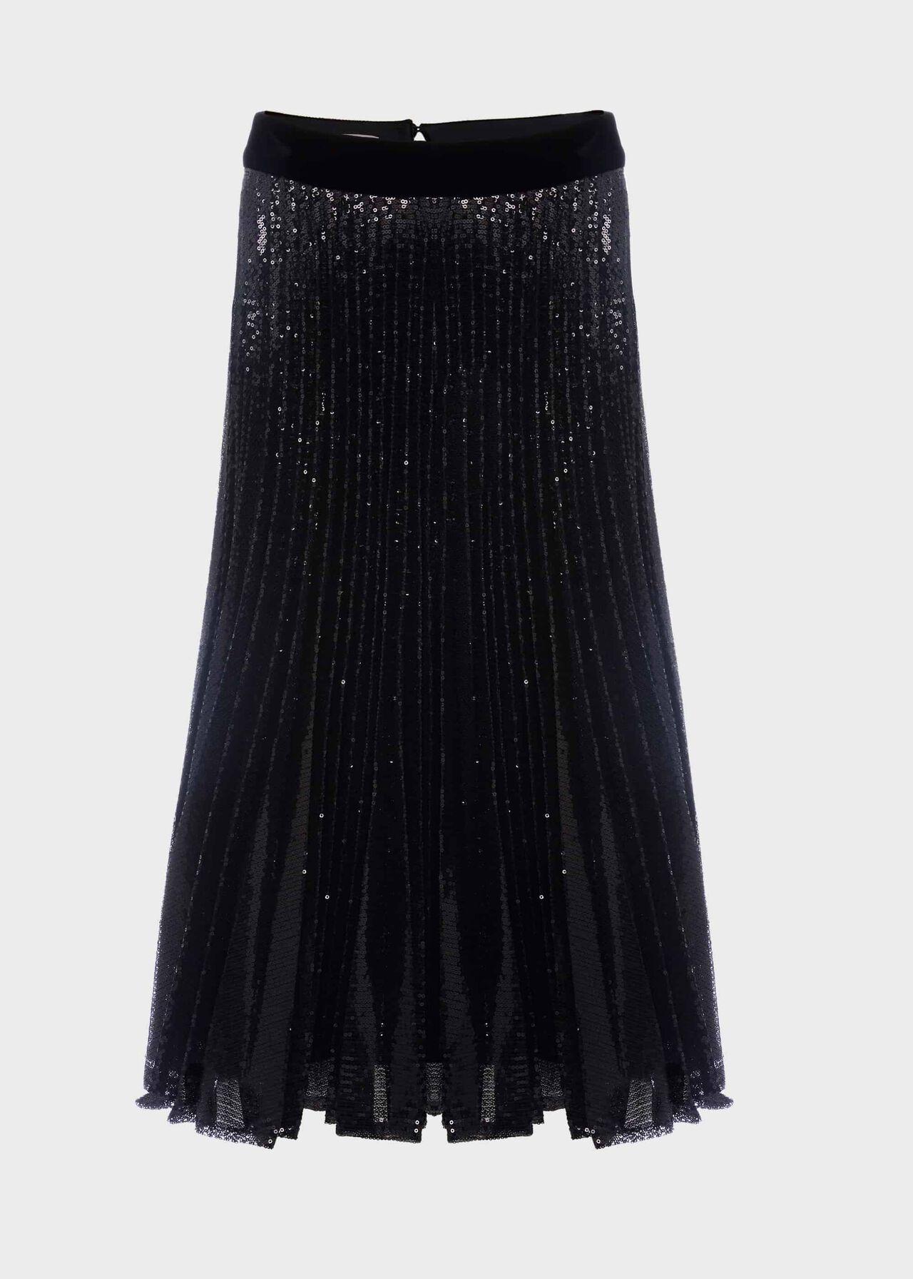 Claudette Sequin Skirt Black