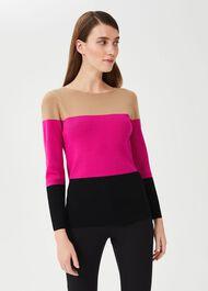 Alice Colourblock Sweater, Black Multi, hi-res