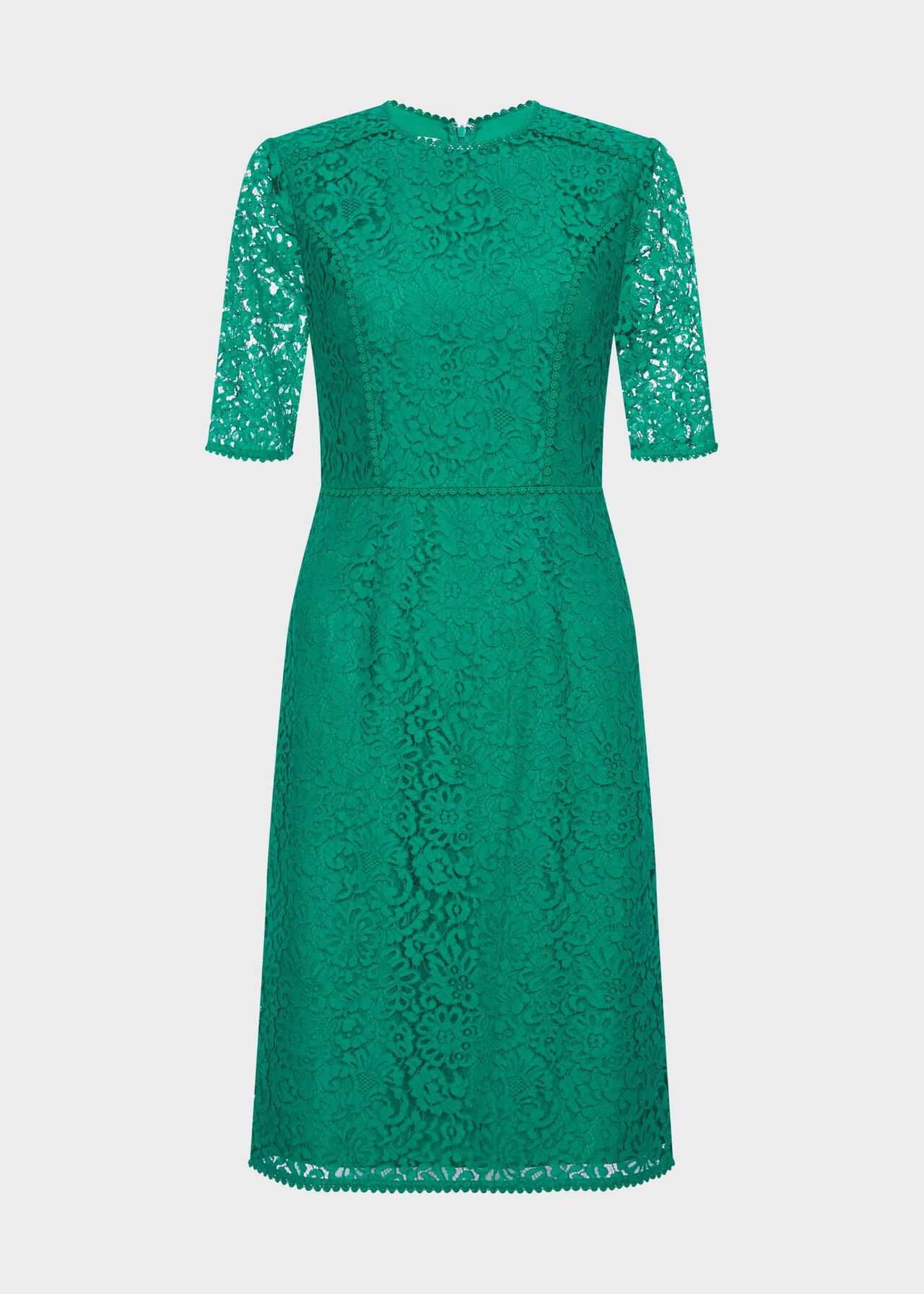 Penny Lace Shift Dress Meadow Green