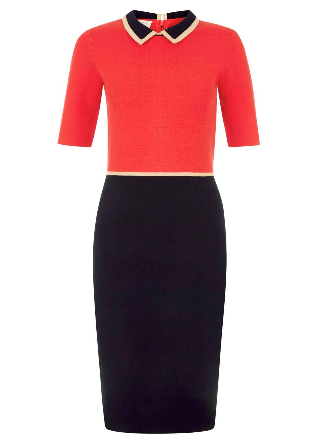 Christie Dress Red Navy