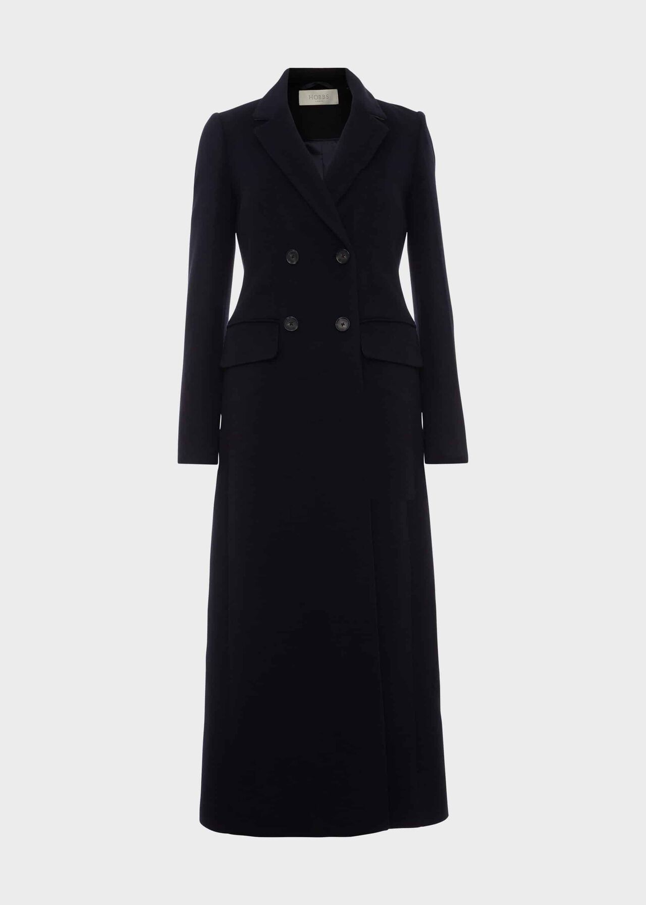 Lilie Wool Cashmere Coat Navy