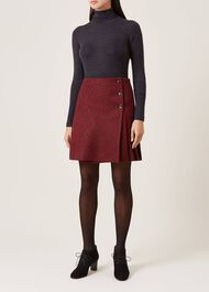Holly Wool Skirt, Red Charcoal, hi-res