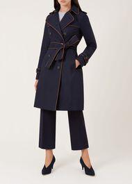 Imogen Trench Coat, Navy Cognac, hi-res