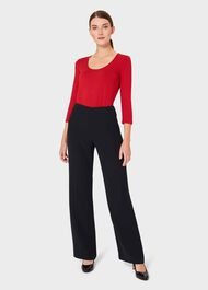 Daisy Double Fronted Top, Red, hi-res