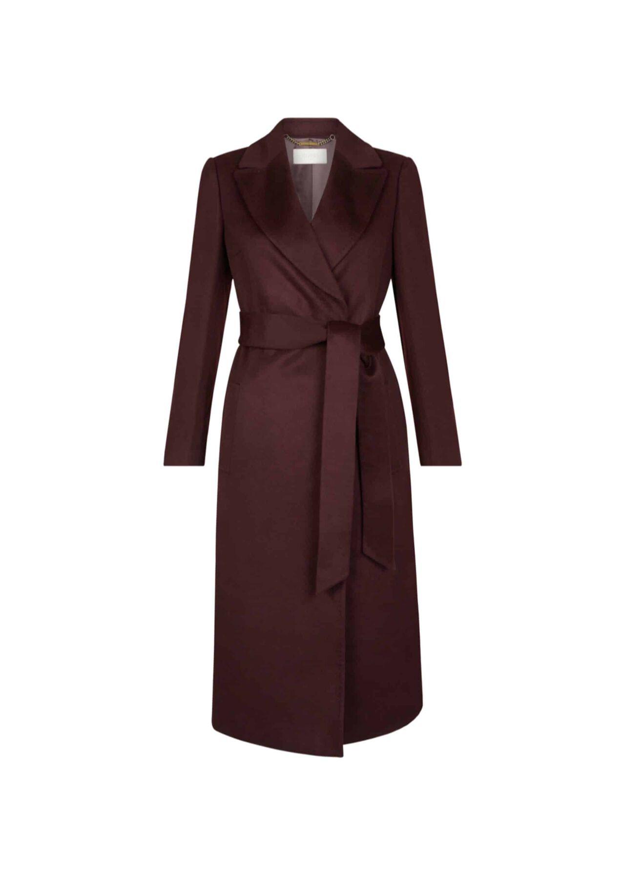 Olivia Wool Coat Aubergine