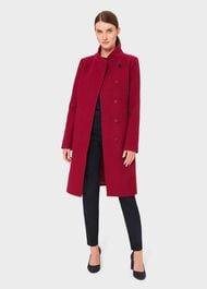 Maisie Wool Blend Coat, Dark Raspberry, hi-res