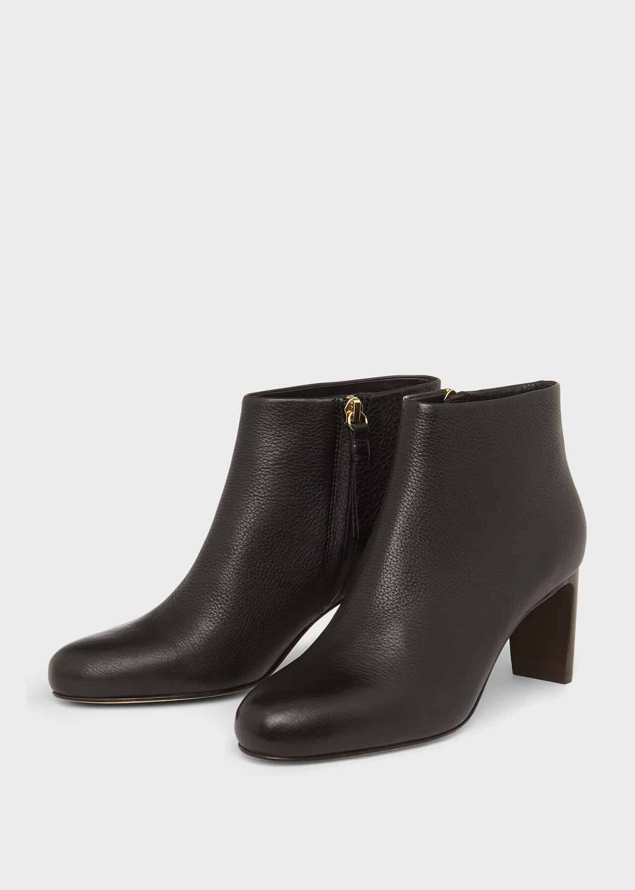 Lizzie Leather Ankle Boots, Black, hi-res