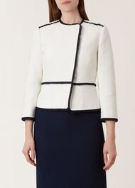 Alice Jacket, Ivory Navy, hi-res