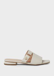 Lily Leather Sandals, White, hi-res