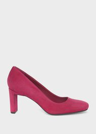 Ella Suede Court Shoes, Berry Pink, hi-res