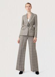 Hailey Wool Trousers, Multi, hi-res