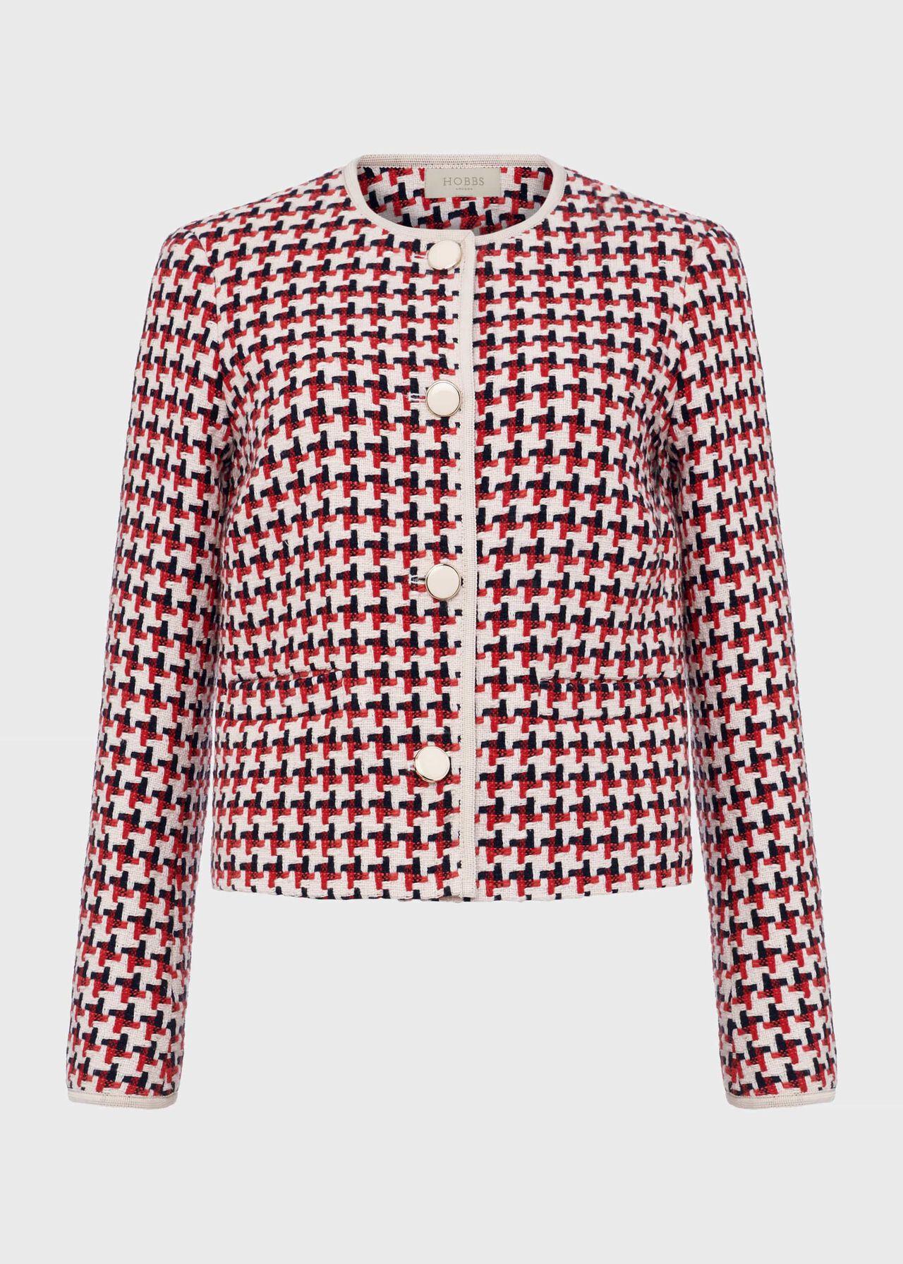 Tafara Tweed Jacket Red Multi