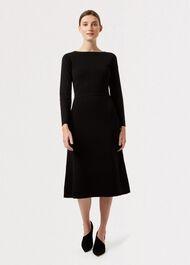 Rebecca Knitted Dress, Black, hi-res