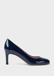 Lizzie Patent Stiletto Court Shoes, Navy, hi-res