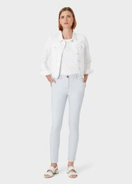 Mariam Denim Jacket, White, hi-res