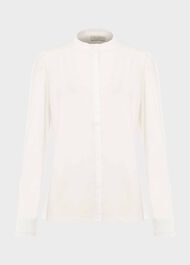 Bree Cotton Blend Shirt, Ivory, hi-res