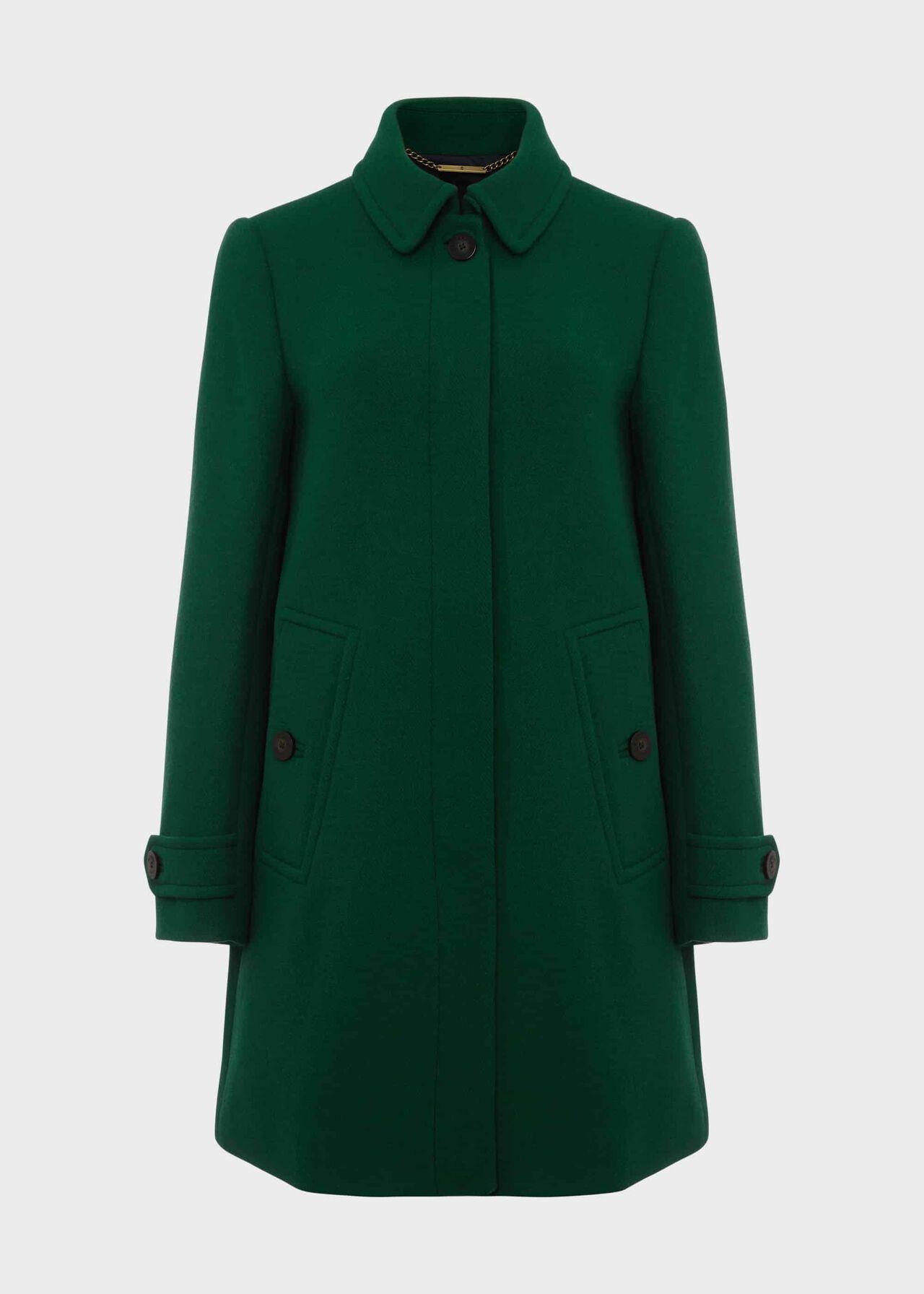 Juniper Coat With Wool Pine Green