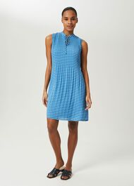 Calla Geometric Dress, Blue Multi, hi-res