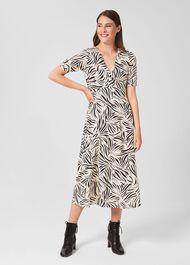 Siena Dress, Cream Black, hi-res