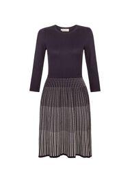 Marcela Dress, Navy Ivory, hi-res