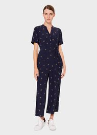 Kathie Floral Cropped Jumpsuit, Midnight Multi, hi-res
