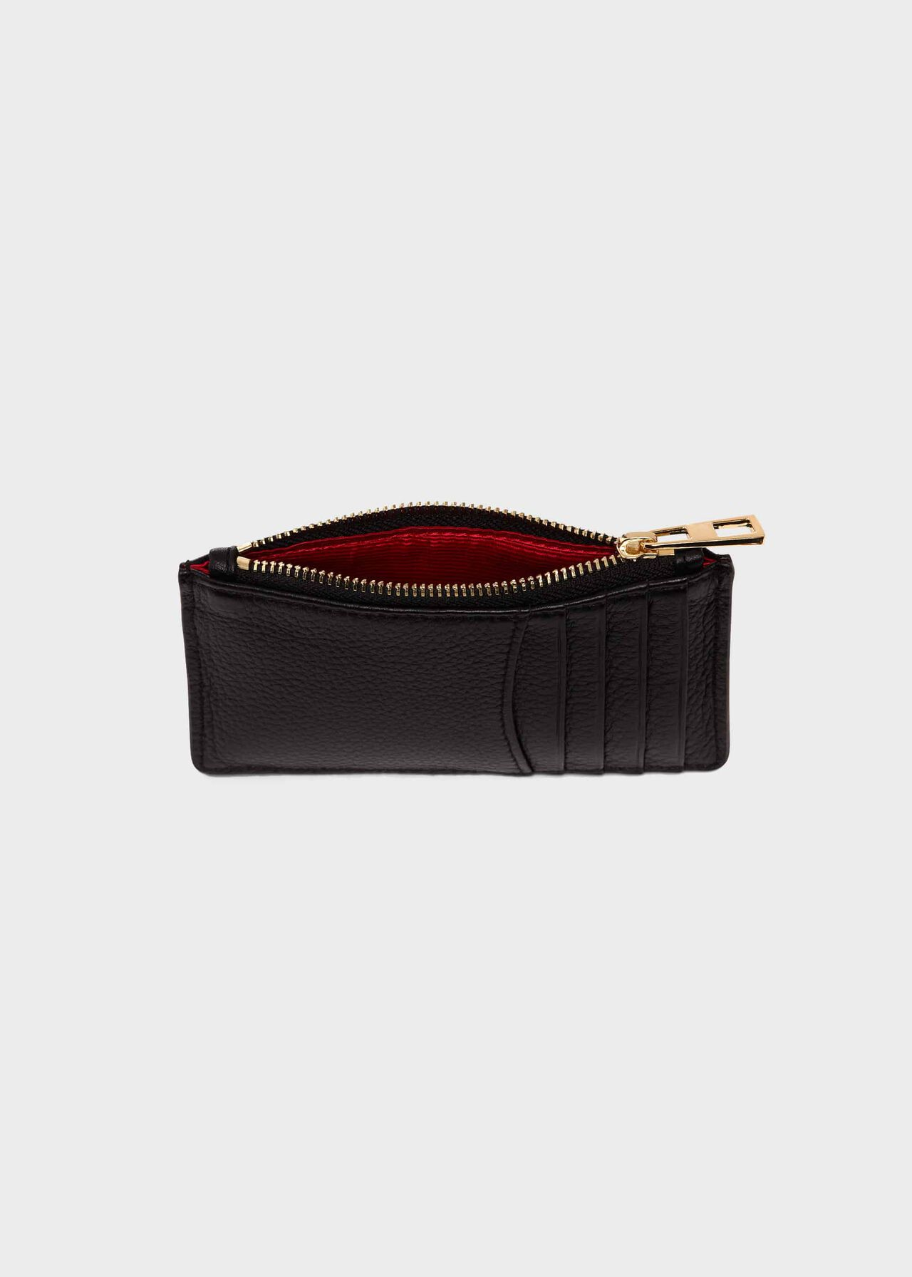 Shetland Card Holder, Black, hi-res