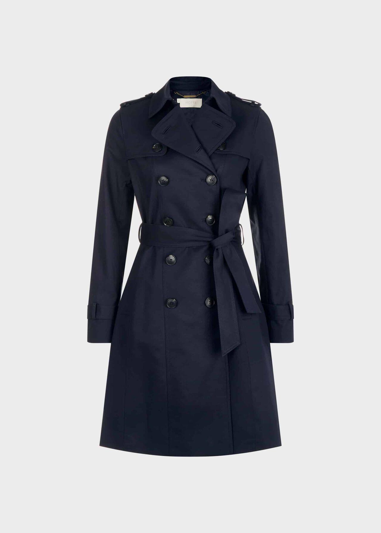 Saskia Trench Coat Navy