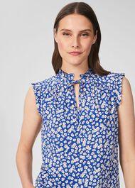 Luma Floral Blouse, Blue Multi, hi-res