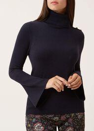 Military Merino Wool Sweater, Navy, hi-res