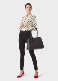 Whitby Leather Tote Bag, Black, hi-res