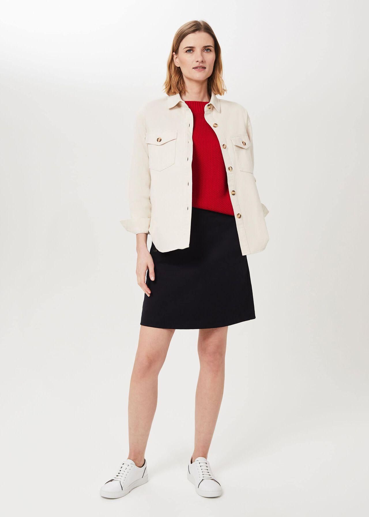 Hensely Shirt Jacket, Natural, hi-res