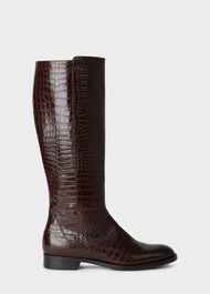 Nicole Long Boot, Chocolate, hi-res