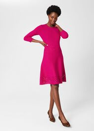 Myra Knitted Dress, Orchid Pink, hi-res