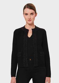 Frankie Knitted Jacket, Black, hi-res