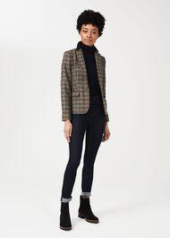 Blake Wool Check Jacket, Camel Multi, hi-res