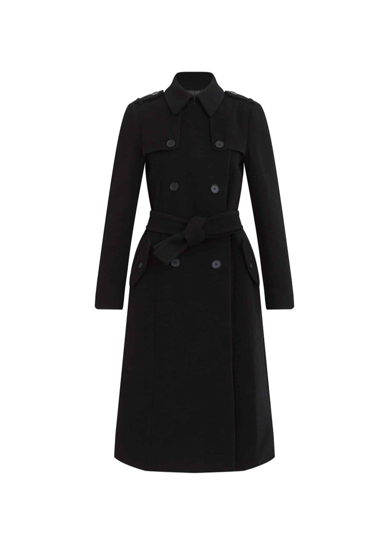 Blythe Wool Cashmere Coat Black